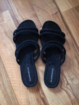 Glamour Sandalo con cinturino nero