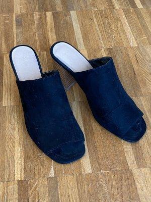 Asos Sandały na platformie czarny-jasnobrązowy