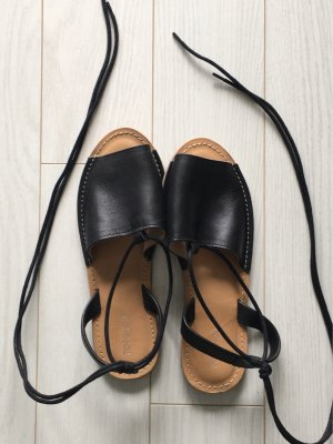 Schwarze Sandalen Gr.38