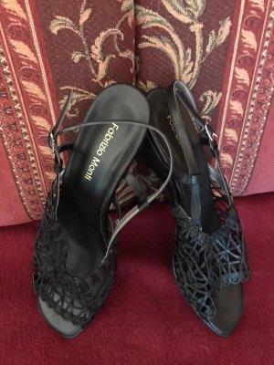 schwarze Sandalen, Gr 40, ungetragen