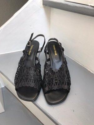 schwarze Sandalen, Gr 40, ungetragen Fabrizio Monti