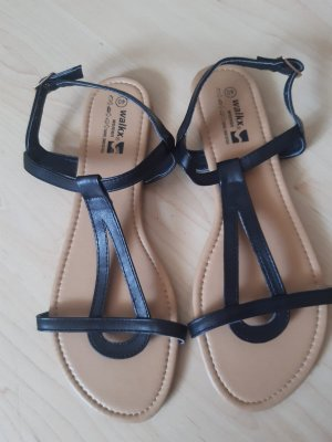 Schwarze Sandalen neu