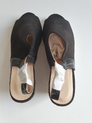 schwarze Sandalen Sommer 38