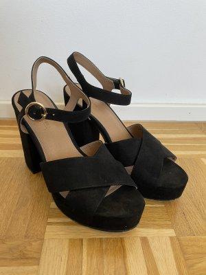 Schwarze Sandalen von ASOS, Gr. 40