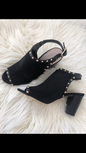 Carvela High Heel Sandal black-gold-colored