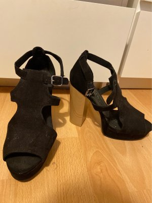 H&M Divided High Heel Sandal black-light brown