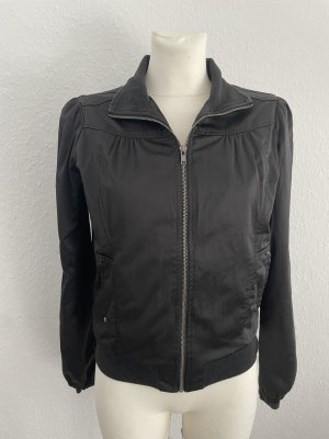 Schwarze satin glänzend Jacke schwarz gr 36