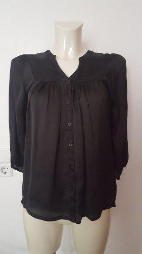 H&M Połyskująca bluzka czarny Poliester