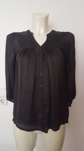 H&M Blusa brillante negro Poliéster