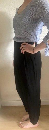 Schwarze schicke High-Waist Hose