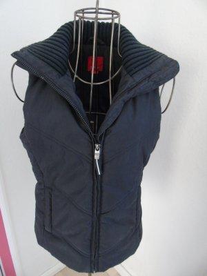 schwarze schicke Weste von Esprit, Gr. XS mit Reißverschlusstaschen, schwarz