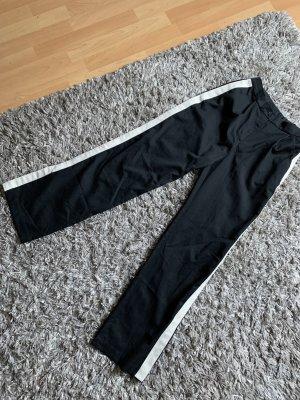 H&M Pantalon pattes d'éléphant noir-blanc