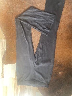 H&M Pantalon pattes d'éléphant noir coton