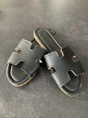 Sandały japonki czarny-piaskowy brąz