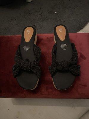 H&M Heel Pantolettes black-beige