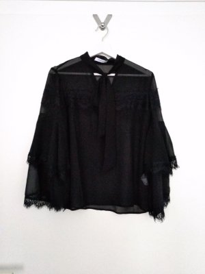 Reserved Tie-neck Blouse black polyester