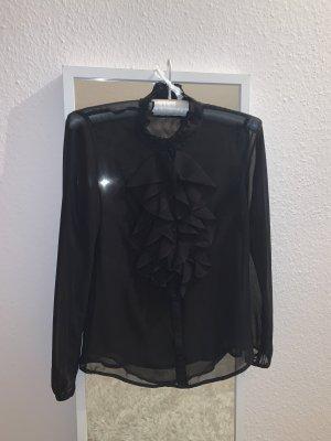 Schwarze Schluppenbluse Esprit