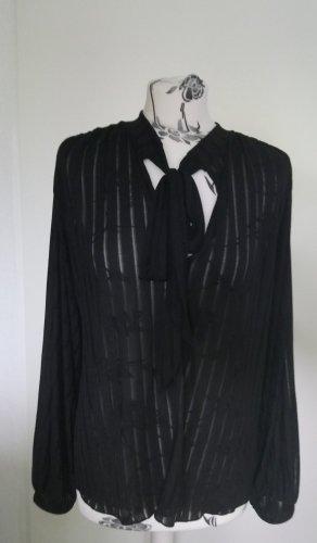 Schwarze Schluppenbluse Zara M