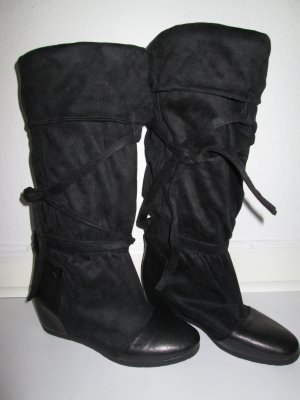 Fornarina Wide Calf Boots black imitation leather