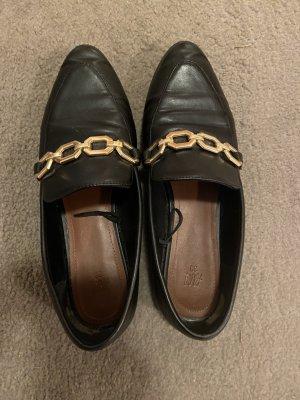 Pantoffels zwart-goud