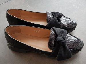 Ballerines classiques noir tissu mixte