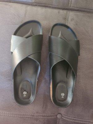 C&A High-Heeled Toe-Post Sandals black