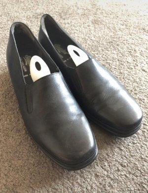 Schwarze Schuhe von Semler, hochwertig, Leder, Serviceschuhe