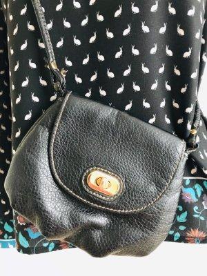 Schwarze Schultertasche von H&M aus Kunstleder