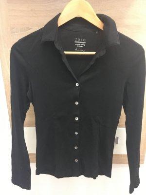 Schwarze Shirt-Bluse