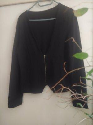 Schwarze Shirtcardigan