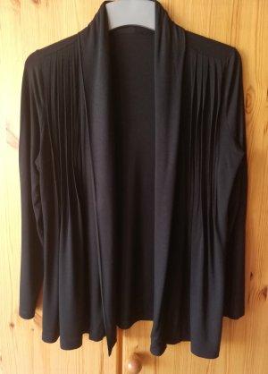schwarze Shirtjacke aus elastischem Jersey von Peter Hahn