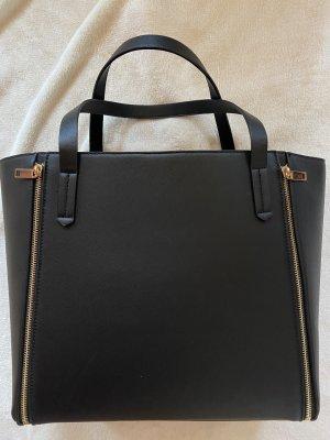 H&M Borsa shopper nero-color oro rosa