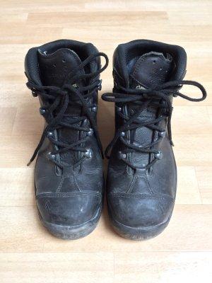 Lace-up Boots black mixture fibre