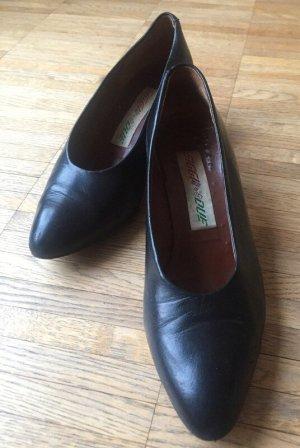 schwarze Siggi Due Lederpumps
