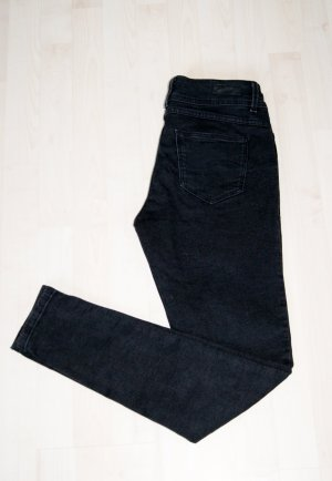 Schwarze Skinny-Jeans (Größe 38/30, medium rise) - Neuwertig!