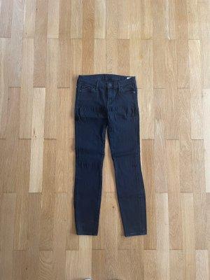Schwarze skinny Jeans von 7 for all Mankind - Größe 28