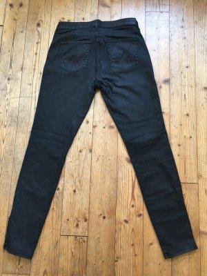 schwarze Skinny Jeans von Wrangler