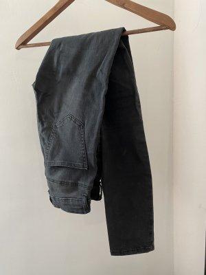 Schwarze Skinnyjeans (washed look)