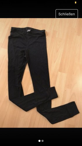 Schwarze Skiunterhose
