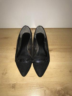 Schwarze Slipper Schuhe