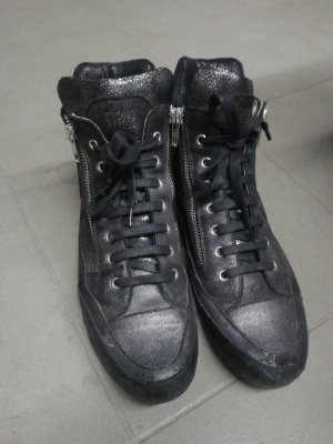 Candice Cooper Sneaker alta nero-argento