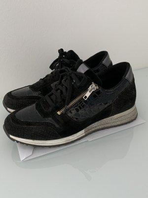 Schwarze Sneaker Cox Leder Gr. 39