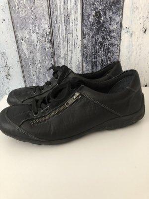 schwarze Sneaker / Sneakers von Remonte - Gr. 38, wenig getragen