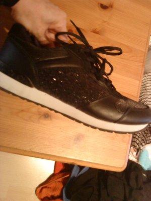 Anastacia Sneakers met veters zwart-wit