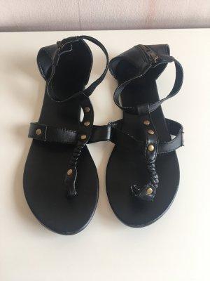 H&M Divided Toe-Post sandals black-bronze-colored
