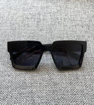 NA-KD Kwadratowe okulary przeciwsłoneczne czarny