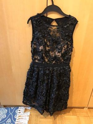 Little Mistress Vestido de encaje negro