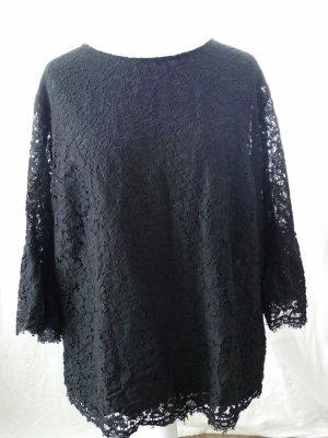 H&M Koronkowa bluzka czarny