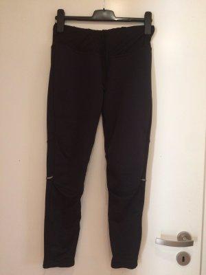 Crane Pantalon thermique noir-argenté