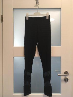 schwarze (Sport-) Leggins, Größe 36